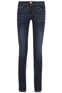 From dark colored skinnys to distressed boyfriend jeans are fall's denim look. Skinny jeans are easier to fit into boots for the cold weather. The dark and distressed jeans give you an edgy look which is also popular right now. Stephanie J.