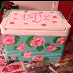First crafting project of the summer: cooler painting