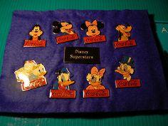 RARE Set 15th Aniversary Walt Disney World Coca Cola Superstars Pin Set of 9   eBay