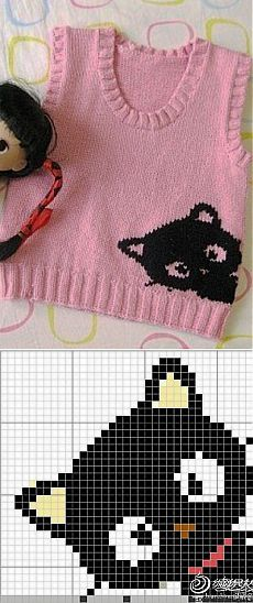 Baby Knitting Patterns Blanket Pattern for baby vest knitting Baby Knitting Patterns, Knitting Charts, Knitting For Kids, Knitting Stitches, Baby Patterns, Free Knitting, Knitting Projects, Crochet Patterns, Knitting Ideas