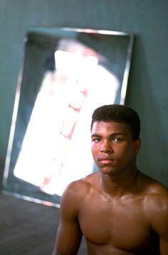 Cassius Clay at the 5th Street Gym, Miami Beach, FL 1961