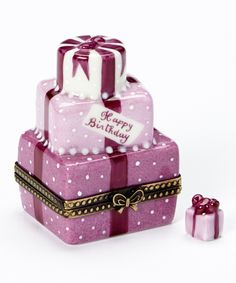 Limoges by Rochard Pink Birthday Cake French Porcelain Box | zulily