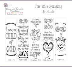 Bless It Forward Ministries - Free Printables Free Printable Bookmarks, Bookmarks Kids, Free Printables, Scripture Cards, Bible Scriptures, Bible Art, Scripture Study, Bible Journaling For Beginners, Art Journaling