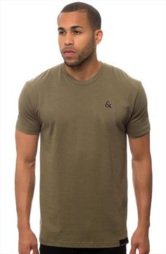 Logo Tee - Seize and Desist $35.00  Sage Green Tee with Metallic Gold Embroidery on left chest. A great basic to rock any day any time! Made in the USA.