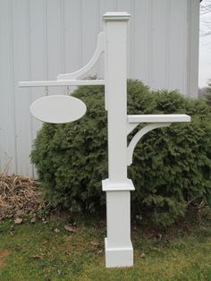 Mailbox, Pedestal Mailbox with Sign, Composite, Paintable, Outdoor Mailbox by MaurerFineWoodWorks on Etsy
