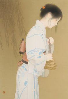 subete-wa-kieyuku: 森本純 家路 Japanese Art Modern, Japanese Prints, Japanese Culture, Japanese Girl, Japan Painting, Japanese Outfits, Japan Art, Woodblock Print, Chinese Art