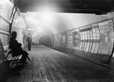 Interior of a London Underground tube station in the 1890s.