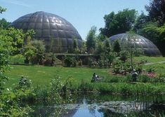Bubble greenhouse dome at the Zurich Botanical Gardens Geodesic Dome Greenhouse, Earth Sheltered Homes, Zurich, Green Building, Botanical Gardens, Unicycle, Greenhouses, Farming, Switzerland
