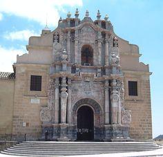 Fachada barroca de la Basílica de la Vera Cruz.--translation-- Baroque facade of the Basilica de la Vera Cruz. Murcia, Spain