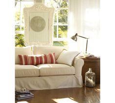 pottery barn sleeper sofa ebay upholstery fabric types oatmeal light beige linen slipcover made for pb basic home pinterest slipcovers and living room