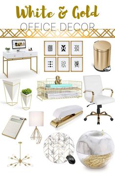 Office Decor, Gold Home Decor, Home Decor, Affordable Home Decor, Amazon Home Decor