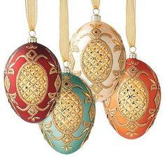 Egg Shaped Christmas Ornaments -