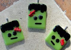 #Fused Glass Frankenstines