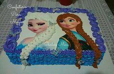 Sofia the first Elsa Birthday Cake, Brithday Cake, Birthday Sheet Cakes, Frozen Birthday Cake, Frozen Party, Princess Birthday, Bolo Frozen, Disney Frozen Cake, Disney Cakes