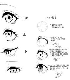anime eye and human eye comparison Manga Drawing Tutorials, Manga Tutorial, Drawing Techniques, Eye Tutorial, Drawing Practice, Drawing Skills, Drawing Tips, Figure Drawing, Art Reference Poses