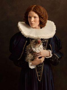 Flemish Painting-Inspired Portraits : Photographer Sacha Goldberger