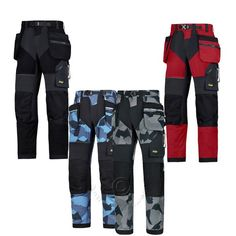 Snickers Flexiwork Work Trousers With Kneepad Pockets 6903