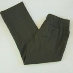 Ralph Lauren Wool Trousers These olive trousers by Ralph Lauren are a size 10 and are made of 96% wool and 4% Lycra. These are in excellent condition. They feature belt loops and pockets front and back. The rise measures at 11 inches in the inseam measures at 31 inches. Ralph Lauren Pants Trousers