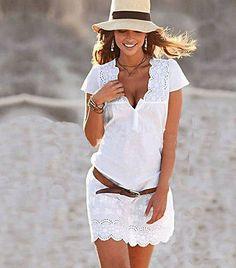 Eyelets In The Sun mini summer dress