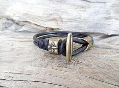 EXPRESS SHIPPINGMen's Leather Bracelet Natural Leather #bracelet #for #summer #fashion