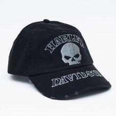Boné Harley-Davidson Preto com logo e caveira. - Machine Cult - Kustom Shop | A loja das camisetas de carro e moto