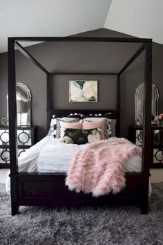 48 Teens Bedroom Ideas for Small Rooms. 48 Bedroom Ideas for Small Rooms for Teens. Designing teens bedroom is something troublesome sometimes, since they have had their own personal taste and in their high ego … Pink Bedroom Decor, Room Ideas Bedroom, Bedroom Layouts, Bedroom Wall, Bedroom Lamps, Wall Lamps, Bedroom Lighting, Small Master Bedroom, Modern Bedroom