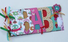 Baby scrapbook album premade scrapbook word by sandysscrapbooks, $45.00