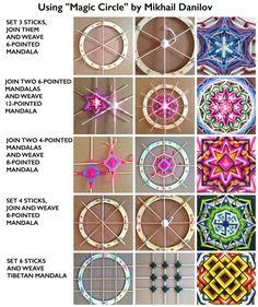 Magic Circle 11 Zoll Ojo-de-Dios Mandala Webering-Helfer-Gerät von DanilovMandala Sperrholzring ojos de dios – Top Of The World Diy Dream Catcher Tutorial, Weaving Projects, Math Projects, Macrame Projects, Wood Projects, Magic Circle, Magic Loop, Weaving Techniques, Loom Knitting