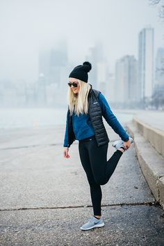 Cute Casual Winter Outfits for Women Cold Weather Ideas Fall Fashion - Workout Outfits For Women, Sport Outfits, Casual Outfits, Cute Outfits, 2017 Outfits, Casual Athletic Outfits, Vest Outfits For Women, Gym Outfits, Latest Outfits