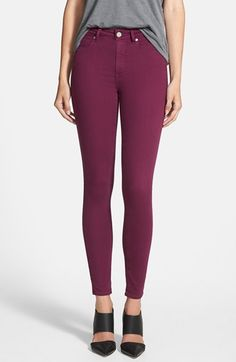 Paige Denim 'Hoxton' Ultra Skinny Jeans (Passion Plum) available at #Nordstrom