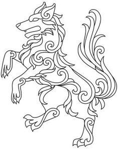 Gilded Heraldry - Wolf_image