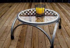 For all the bike enthusiasts out there!  #Bicycles #Bikes #Cycling #Cyclists #Wheels #Rims #Spokes #Table #Creative