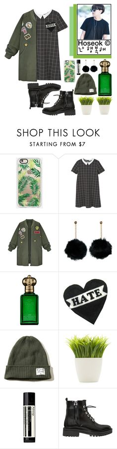 """""""313. H O S E O K girlfriend style"""" by choosemaknae ❤ liked on Polyvore featuring Casetify, MANGO, WithChic, Clive Christian, Hollister Co., Dot & Bo, Aesop and Kendall + Kylie"""