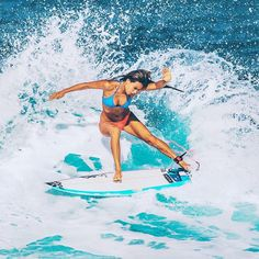Surfer girl inspiration!! #goals. My surf muse @tiablanco being complete and total wife material in the water.  Love this girl, love her style!  cc @balisurf_angels  @aaron_nakamura