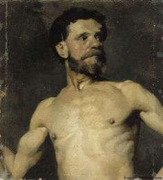 Albert Edelfelt - Study of male model. Figure Painting, Figure Drawing, Helene Schjerfbeck, Prinz Eugen, Speed Art, Drawing Exercises, Figure Reference, Drawing Artist, Drawing Practice