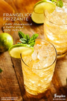 Host your own happy hour with this simple 3-ingredient cocktail. #Frangelico #Frizzante #Recipe
