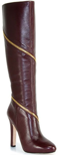 Diane Von Furstenberg Cambria Calf Zip Boot - www.finditforweddings.com
