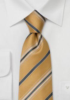 Krawatte Gold Streifen