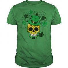 St Patricks Day Shamrock Sugar Skull #PatricksDay