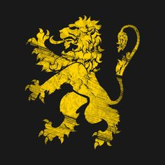 Gold Lion Rampant - Fierce - T-Shirt | TeePublic