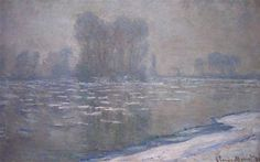 Ice Floes, Misty Morning 1894 Claude Monet