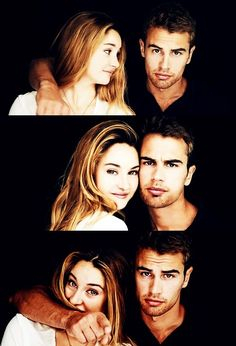 theo james and shailene woodley aka four/tobias eaton and tris prior in divergent. - omg this is so darn cute!!!
