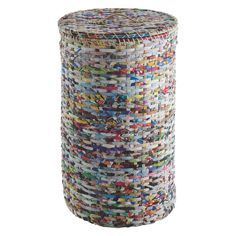 The Cohen recycled magazine laundry basket makes a colourful addition to any bathroom or bedroom. Buy now at Habitat UK. Plastic Bag Crafts, Recycled Plastic Bags, Recycled Magazines, Plastic Items, Recycled Crafts, Jute Crafts, Plastic Laundry Basket, Laundry Baskets, Recycling Bins
