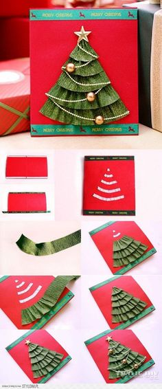 Christmas Tree Cards, Christmas Art, All Things Christmas, Handmade Christmas, Christmas Decorations, Holiday Decor, Diy Christmas Costumes, Diy For Kids, Crafts For Kids