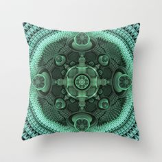 CenterViewSeries304 Throw Pillow by fracts - fractal art - $20.00