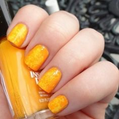 Bright, sunny nails perfect for summer!