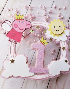 Peppa Pig Pinata, Peppa Pig Balloons, Cumple Peppa Pig, Peppa Pig Happy Birthday, Pig Birthday, Donut Birthday Parties, Princess Peppa Pig Party, Pig Baby Shower, Peppa Pig Invitations