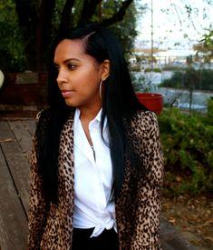 Easy Style in Zara Leopard Blazer, DVF Pants, Vintage Mens White Shirt, Giuseppe Zanotti Heels and Ysl Clutch Black Women Art, Black Women Fashion, Womens Fashion, Leopard Blazer, American Shorts, White Shirt Men, Giuseppe Zanotti Heels, Dress For Success, Cute Outfits