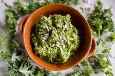 Kale pesto with sunflowe seeds