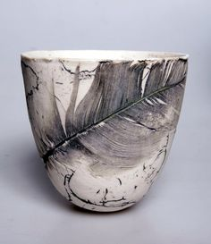 ≗ Feathered Nest of Hope ≗ bird feather & nest art jewelry & decor - Kriti Chaudhary | 'Fossil Pots' series